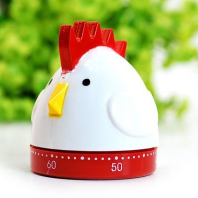 2015-New-Arrival-Modern-Kitchen-Clock-White-And-Red-Hen-Design-Smart-Alarm-Reminder-Timer-For